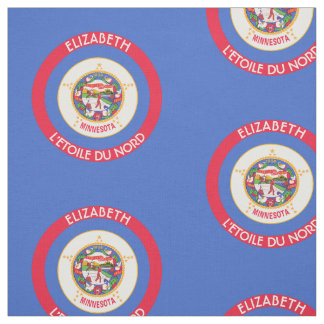 Minnesota North Star State Personalized Flag Fabric