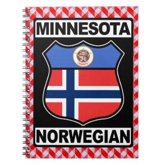 Minnesota Norwegian American Notepad Spiral Note Books