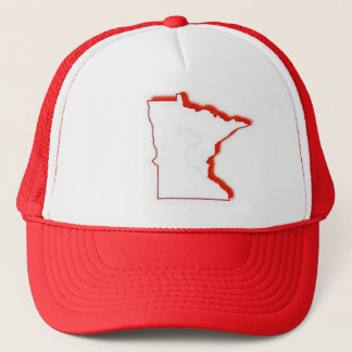 Minnesota outline trucker hat