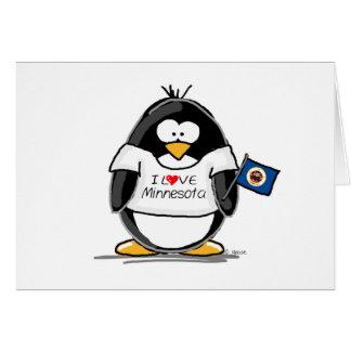 Minnesota penguin card