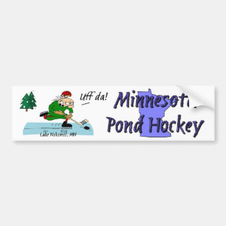 Minnesota Pond Hockey Bumper Sticker