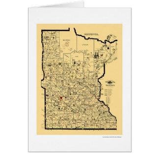 Minnesota Railroad Map 1897 Card