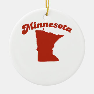 MINNESOTA Red State Christmas Ornaments