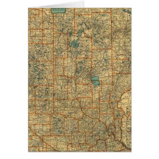 Minnesota road map card