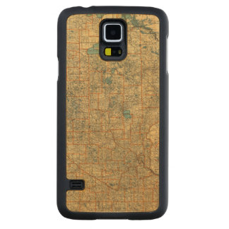 Minnesota road map carved maple galaxy s5 case