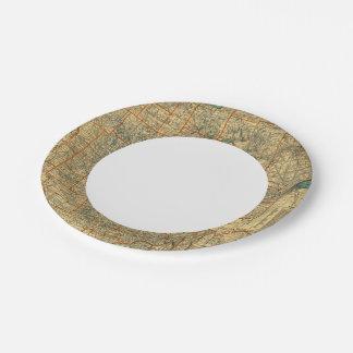 Minnesota road map paper plate