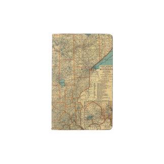 Minnesota road map pocket moleskine notebook