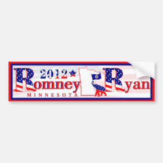 Minnesota Romney and Ryan 2012 Bumper Sticker 3