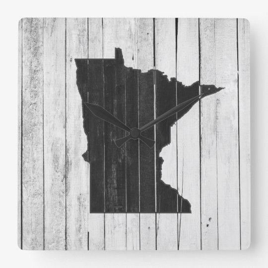 Minnesota Rustic Black and White Wood Panel Farm