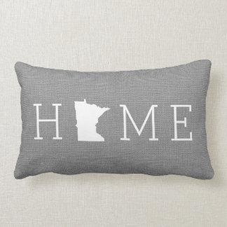Minnesota Rustic Gray Home State Throw Pillow