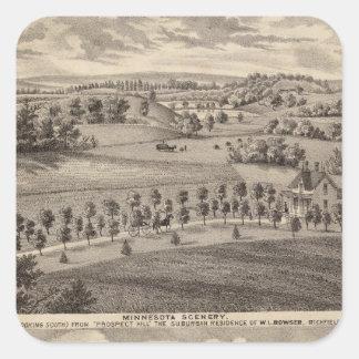Minnesota scenery at Dead River Valley Square Sticker