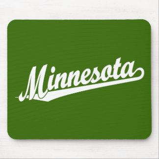 Minnesota script logo in white mouse mat