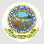 Minnesota Seal Classic Round Sticker