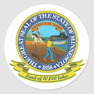 Minnesota Seal Round Sticker