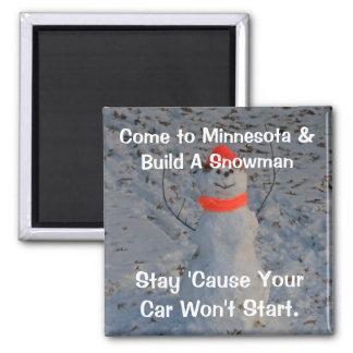 Minnesota Snowman Magnet