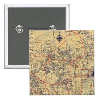 Minnesota standard map 15 cm square badge