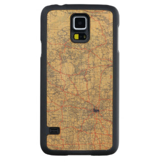 Minnesota standard map carved maple galaxy s5 case