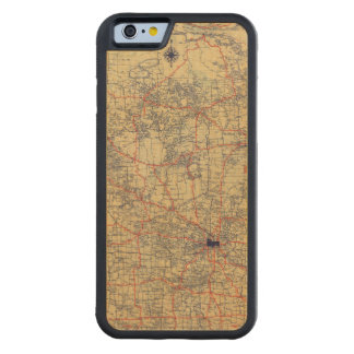 Minnesota standard map carved maple iPhone 6 bumper case