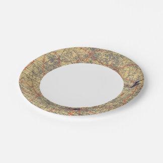 Minnesota standard map paper plate