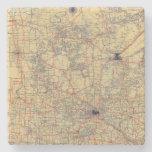 Minnesota standard map stone coaster