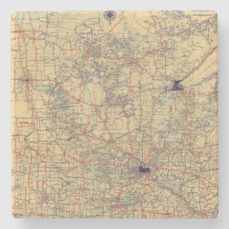 Minnesota standard map stone coaster