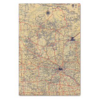 Minnesota standard map tissue paper