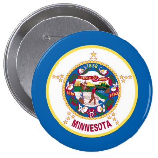Minnesota State Flag 10 Cm Round Badge