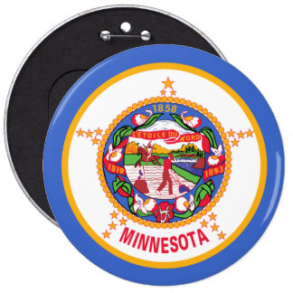 Minnesota State Flag 6 Cm Round Badge
