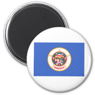 Minnesota State Flag 6 Cm Round Magnet
