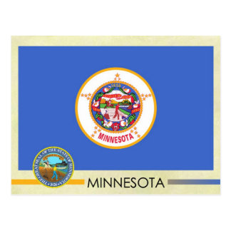 Minnesota State Flag and Seal Postcard