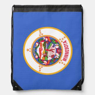 Minnesota State Flag Drawstring Backpack