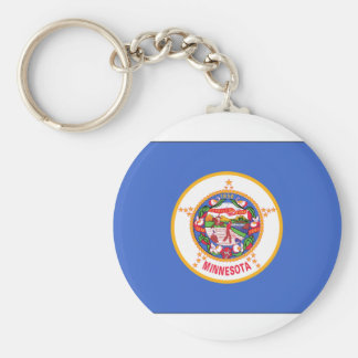 Minnesota State Flag Basic Round Button Key Ring