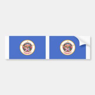 Minnesota state flag car bumper sticker