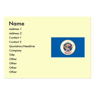 Minnesota State Flag Pack Of Chubby Business Cards