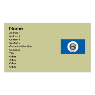Minnesota State Flag Pack Of Standard Business Cards