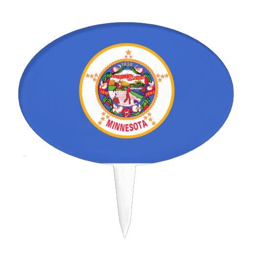 Minnesota State Flag Cake Pick