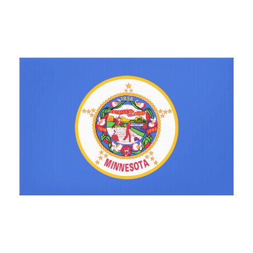 Minnesota State Flag Gallery Wrapped Canvas