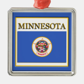 Minnesota State Flag Christmas Ornament