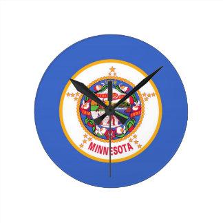 Minnesota State Flag Round Wallclock