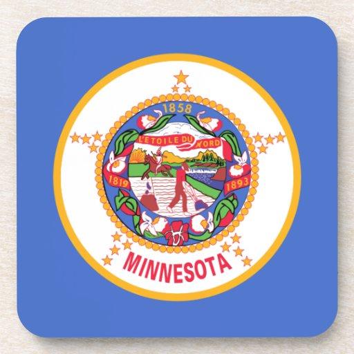 Minnesota State Flag Beverage Coasters