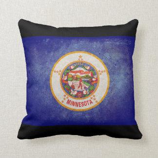 Minnesota state flag throw pillow