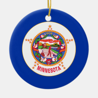 Minnesota State Flag Christmas Tree Ornaments
