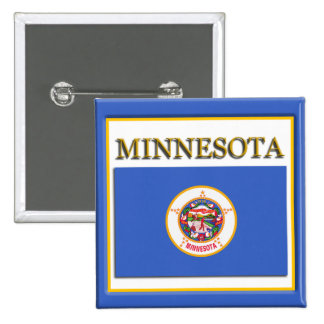 Minnesota State Flag Design Button