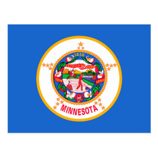 Minnesota State Flag Design Postcard