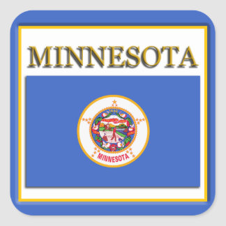 Minnesota State Flag Design Sticker