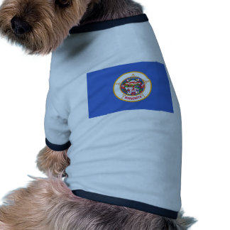 Minnesota State Flag Dog Tshirt