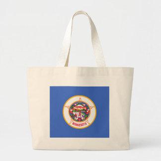 Minnesota State Flag Jumbo Tote Bag