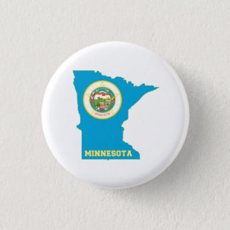 Minnesota State Flag Map 3 Cm Round Badge