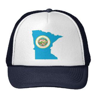 Minnesota State Flag Map Mesh Hat