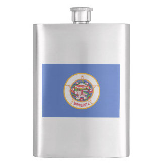 Minnesota State Flag Hip Flask